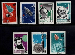 Russia Scott 2883-2889 Used CTO Imperforate set expect similar cancels