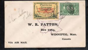 Canada #CL43 Very Fine Used On Pilot Signed Cover To Winnipeg