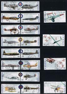 Canada #1807-8 Airplanes VF Used Set