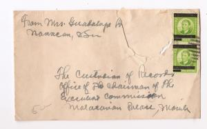 Philippines Japanese Occupation 2c x 2 on cover (bag)