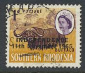 Rhodesia SG 360  SC# 209   Opt  Independence 1966  see details  Buffalo