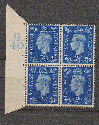 GB George VI  SG 466 Control G40 Cyl 6 Dot