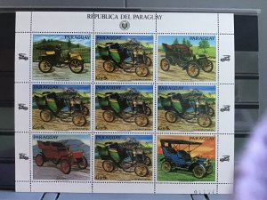Paraguay Vintage Cars mint never hinged     stamps sheet  R26592