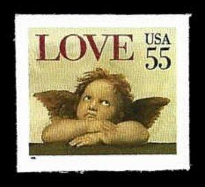 US #2960 Bk Sgl 55c Love, MNH, (PCB-25)