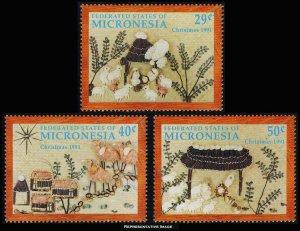 Micronesia Scott 146-148 Mint never hinged.