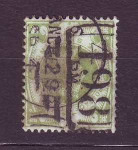 J23532 JLstamps 1887-92 great britain used #122 queen