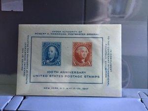 U.S. 1947 100th Anniversary U.S. Postage Stamps  MNH stamps sheet R26947