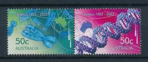 [73886] Australia 2003 Genetics DNA Pair  MNH