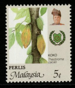 MALAYA PERLIS SG75c 1986 5c AGRICULTURAL PRODUCTS PERF14X13¾ MNH
