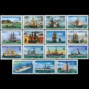 TURKS & CAICOS 1985 - Scott# 578-92 Ships Set of 15 NH