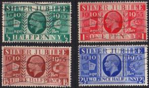 ENGLAND GREAT BRITAIN [1935] MiNr 0189-92 ( O/used )