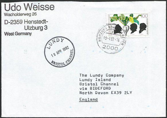 GERMANY TO LUNDY 1992 cover - arrival cds..................................48802