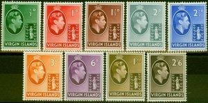 Virgin Islands 1938 Set of 9 to 2s6d SG110-118 Fine Lightly Mtd Mint