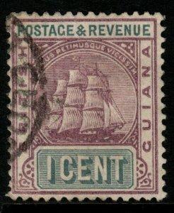 BRITISH GUIANA SG193 1889 1c DULL PURPLE & SLATE-GREY FINE USED
