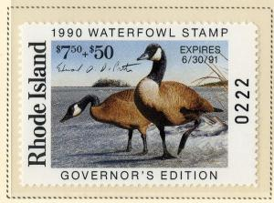 US RI1G RHODE ISLAND STATE GOVERNOR'S STAMP 1989 SMNH SCV $65.00 BIN $35.00