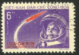 VIETNAM NORTH 1961 6xu Yuri Gagarin's Space Flight Issue Sc 160 CTO USED