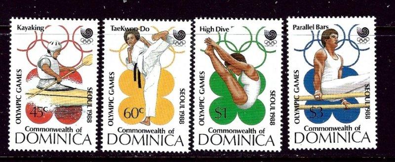 Dominica 1069-72 MNH 1988 Olympics    (ap4290)