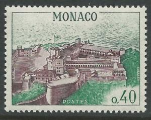 Monaco # 602  View of Palace - 40c  (1) Mint NH