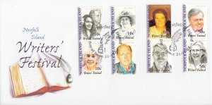 Norfolk Island 2003 FDC Sc #795a-h Set of 4 Pairs Writers' Festival