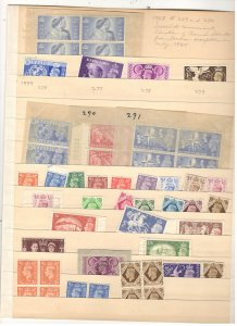 GREAT BRITAIN COLLECTION ON STOCK SHEET, MINT/USED