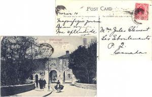 Gibraltar 1d KEVII 1909 Gibraltar, 25 PPC (South Port Gates) to Les Eboulemen...