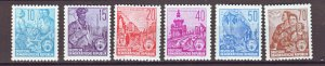 J22292 Jlstamp 1955 germany ddr set mnh #227-30a designs