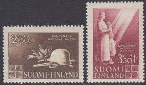 Finland Sc #B58-B59 Mint Hinged; Mi #275-276