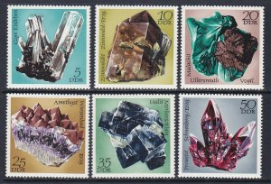Germany DDR 1354-59 MNH 1972 Minerals Found in East Germany Full Set VF