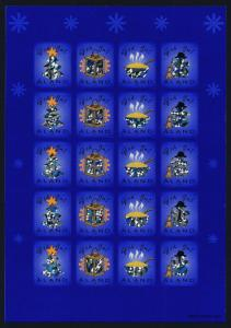 Aland Sheet MNH 2002 (Year) Christmas seal, Hologram