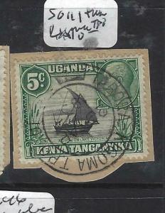 KENYA,UGANDA,TANGANYIKA  (PP1904B)  KGV  5C SG111 TABORA DOWN TPO VFU