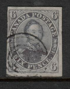 Canada #2 Very Fine Used With Sharp Laid Lines **With Certificate**
