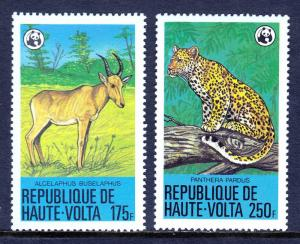 BURKINA FASO — SCOTT 510,511 — 1979 WWF ANIMALS ISSUE — MNH — SCV $22.00