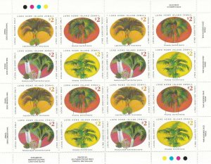 LH33) Lord Howe Island, Palms sheetlet of 4 sets MUH