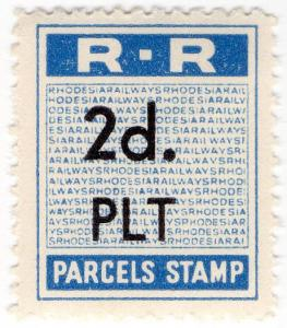 (I.B) Rhodesia Railways : Parcels Stamp 2d