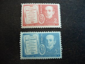 Stamps - Cuba - Scott#364-365 - Mint Hinged Set of 2 Stamps
