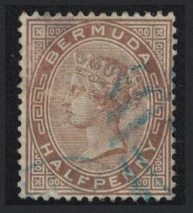 Bermuda Queen Victoria Half Penny stone 1880 Canc SG#19
