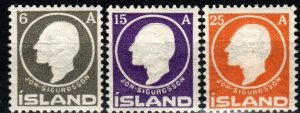 Iceland #89-91 Unused CV $54.50 (X9656)