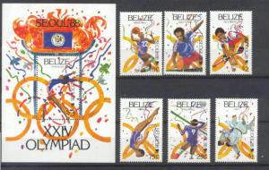 Belize 899-905 MNH Olympic-88 SCV21.65
