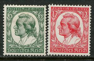 GR Lot 10351 German Postage 1934 Michel 554 - 555 OGHR - Schiller