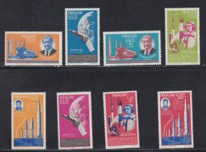 Paraguay # 836-842, John F. Kennedy, Space Achievements, NH, 1/2 Cat.