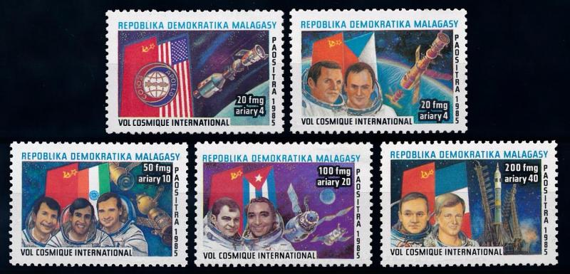 [64458] Madagascar 1985 Space Travel Weltraum Astronauts  MNH