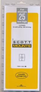Prinz Scott Stamp Mount 25/265 CLEAR Background Pack of 12