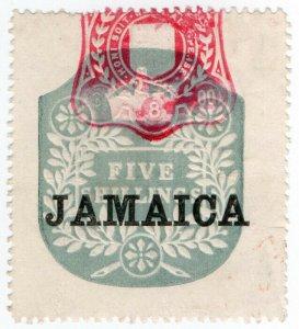 (I.B) Jamaica Revenue : Duty Stamp 5/- (die N)
