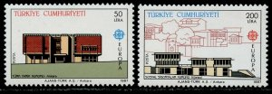 TURKEY Sc#2379-2380 1987 Europa Architecture Mint OG NH Complete