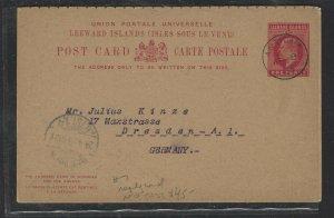 LEEWARD IS COVER (PP2707B)  KE1D REPLT PSC CARD TO GERMANY NO MSG