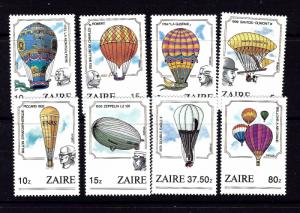 Zaire 1160-67 NH 1984 Manned Flight Bicentenary