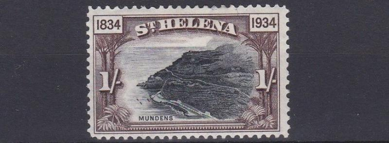 ST HELENA  1934   S G   120  1/-   BLACK &  CHOCOLATE      MH