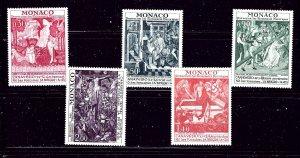 Monaco 855-59 MNH 1972 Historic Monuments