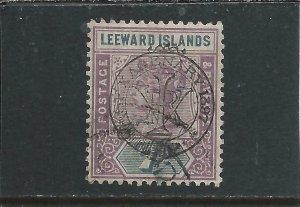 LEEWARD IS 1897 7d DULL MAUVE & SLATE GU SG 14 CAT £130