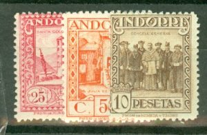 AD: Andorra (Spanish) 13-24, E3 mint CV $375; scan shows only a few